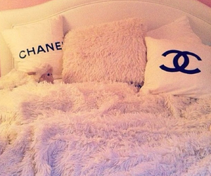chanel, bed, and bedroom image