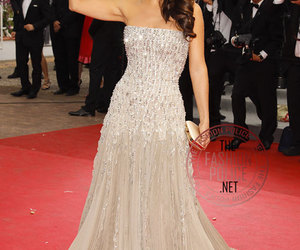 dress, red carpet, and Salma Hayek image