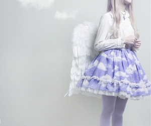 angel, fairy, and girl image