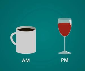 coffee, wine, and PM image