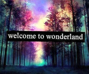 wonderland, welcome, and galaxy image