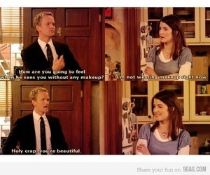 how i met your mother, robin, and barney image