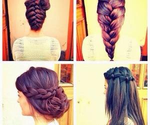 beautiful, girl, and braid image