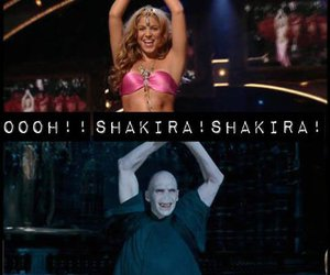 shakira, harry potter, and voldemort image