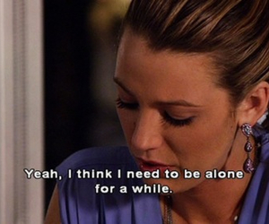 gossip girl, alone, and blake lively image