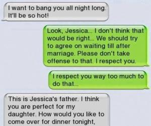 text, father, and funny image