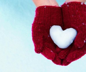 heart, winter, and cute image