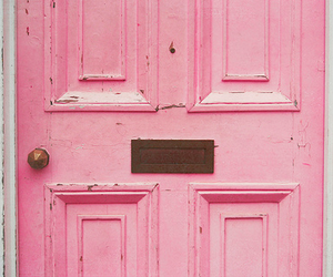 pink, door, and vintage image