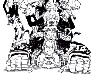 one piece, anime, and brook image