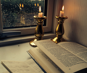 bedroom, love, and book image