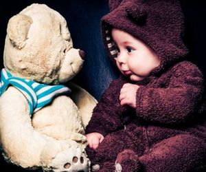 baby, bear, and child image