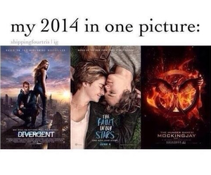 divergent, the fault in our stars, and 2014 image
