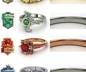 blue, hogwarts, and rings image