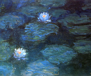 claude monet, art, and water lilies image