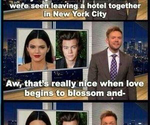 Harry Styles, one direction, and kendall jenner image