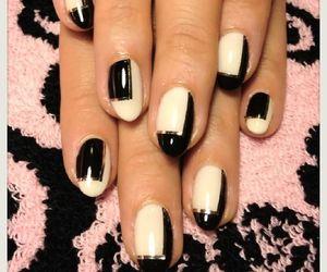 elegante, nail art, and white image
