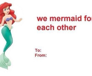 valentine, ariel, and disney image