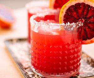 blood orange, cocktail, and margarita image