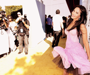 megan fox, dress, and pink image