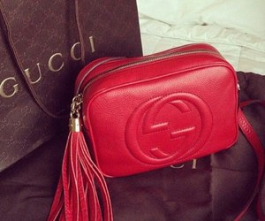bag, red, and cucci image