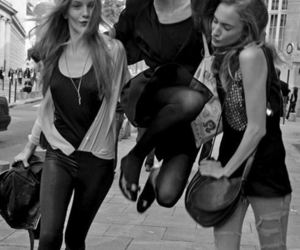 model, girl, and friends image