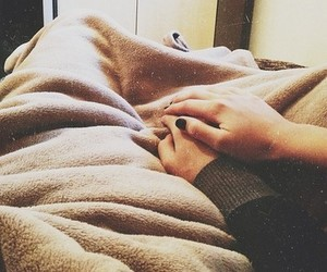 couple, tumblr, and cuddle image