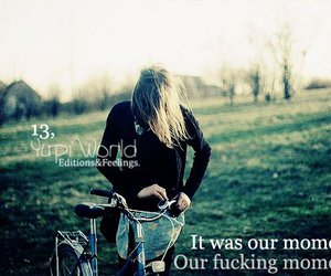 bike, text, and blond image