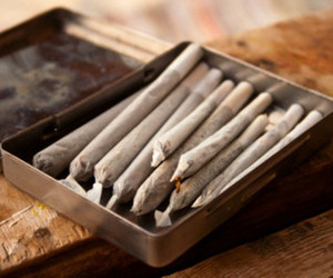weed, joint, and smoke image