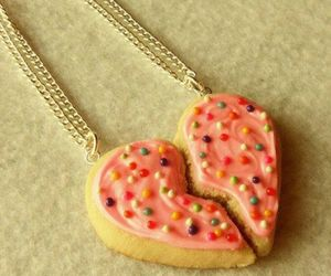 heart, cookie, and necklace image