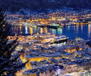 norway, bergen, and city image