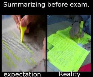exam, expectation, and funny image