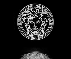 Versace, black, and Logo image