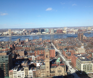 boston, view, and winter image