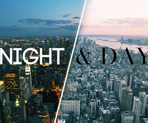 night, day, and city image