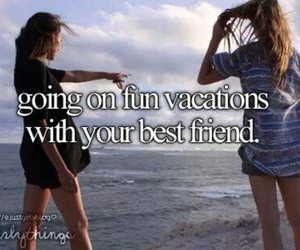 best friends, vacation, and fun image
