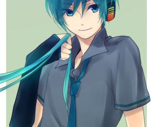vocaloid, anime boy, and hatsune mikuo image