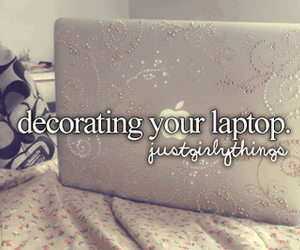 laptop, apple, and decorating image