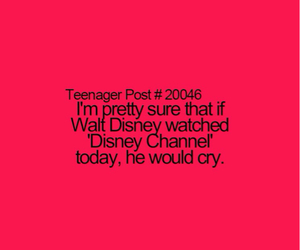 disney, cry, and disney channel image