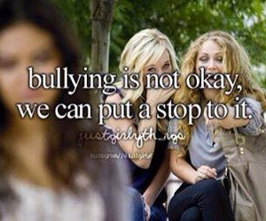quote, just girly things, and bullying image