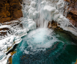 landscape, canada, and ice image