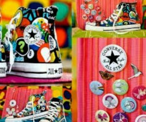 colours, shoes, and converse image