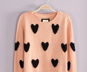 sweater, fashion, and hearts image