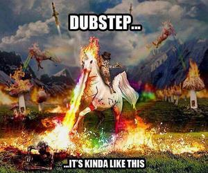 unicorn, dubstep, and amazing image