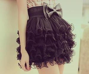 black, skirt, and fashion image