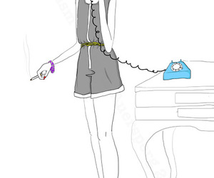 cigarette, girl, and heels image