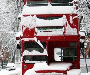 london, bus, and winter image