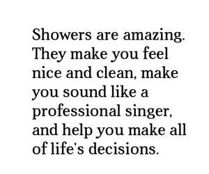 shower, quote, and life image