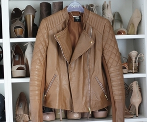 fashion, jacket, and brown image