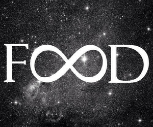 infinity, black and white, and food image