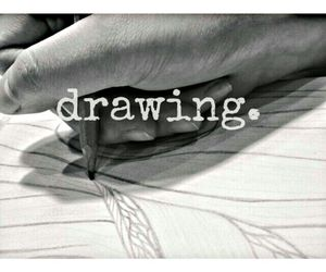art, black and white, and creative image
